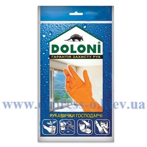 Изображение Перчатки Doloni, хозяйственные, размер М
