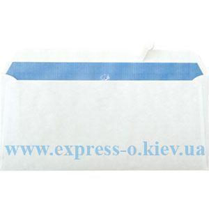 Изображение Евро конверт самоклеящийся с лентой белый