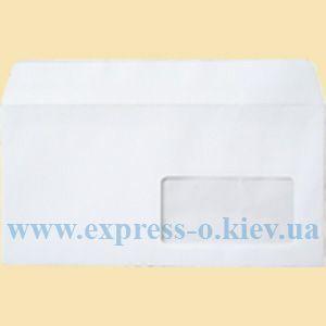 Изображение Евро конверт самоклеящийся с лентой,  окном