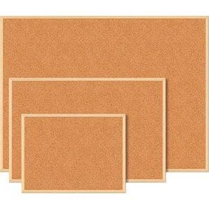 Изображение Доска пробковая JOBMAX, 45 x 60 см, деревянная рамка