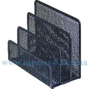 Изображение Подставка для писем металлическая черная