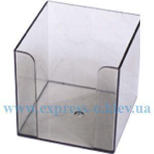 Изображение Подставка для куба бумаги дымчатая  9 х 9 см