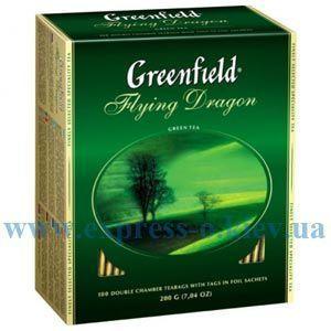 Изображение Чай Greenfield зеленый Flying Dragon 100 пакетов х 2 г