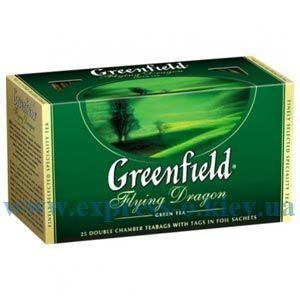 Изображение Чай Greenfield зеленый Flying Dragon 25 пакетов х 2 г