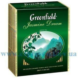 Изображение Чай Greenfield зеленый Jasmine Dream 100 пакетов х 2 г
