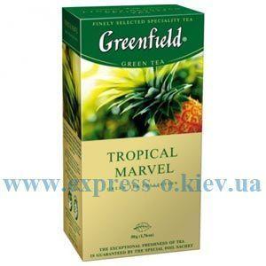 Изображение Чай Greenfield зеленый Tropical Marvel   25 пакетов х 2 г